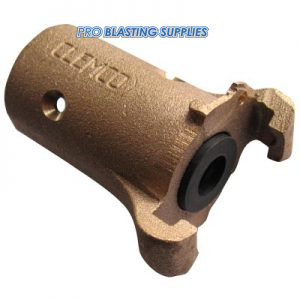"Clemco Bronze Coupling for 1""1/8 O.D. Blasthose"